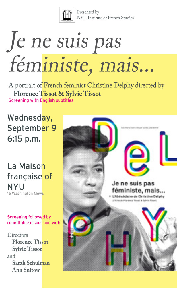 Christine Delphy Poster v3